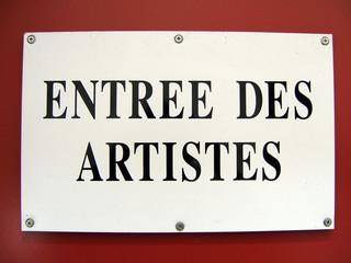 entrée des artistes