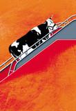 la vache part en vacance poster