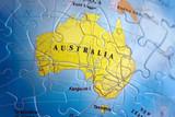 world 3d puzzle: australia poster