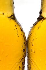 macro of bottles of beer
