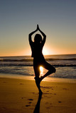 activity: yoga at sunrise poster