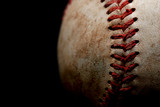 baseball macro over black poster