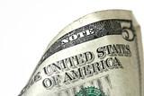 five dollar bill macro, grunge look poster