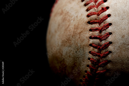 baseball macro over black