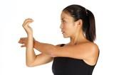 shoulder stretch poster