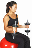 seated dumbbell curl poster