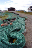 fishing nets & boats poster