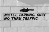motel parking only poster