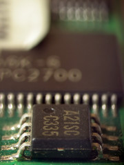 electronic chipset from ram memory circuit