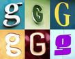 lettre urbain - collection de lettre g