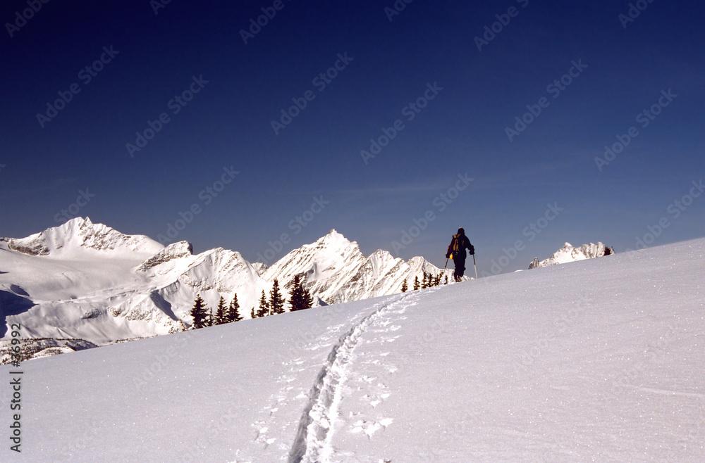 śnieg zimą narciarski - powiększenie