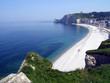 panoramique de la plage d'etretat