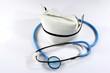 nurse's hat & stethoscope