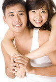 asian couple 5 poster