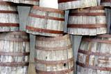stacked barrels poster