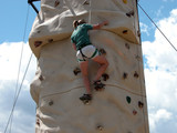 rock climbing wall - montana poster