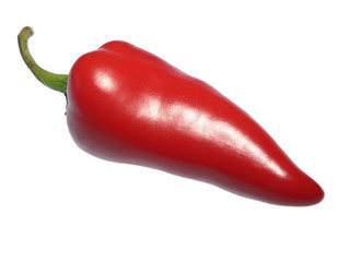 red hot chili pepper, isolated on white