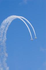 two planes loop the loop