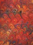 renaissance/victorian marbled paper 6 poster