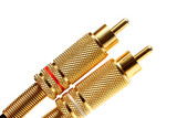 stereo audio jacks gold plated poster