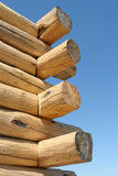 log home construction detail poster