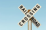 railroad crossing  sign poster