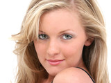 attractive teen girl blonde hair hazel eyes poster