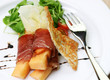 procuitto ham rolled around fresh melon