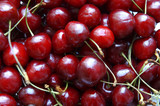 sweet cherries in soft focus poster