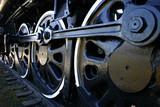 big old locomotive wheels poster