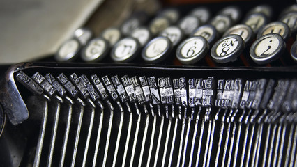keys of typewriter
