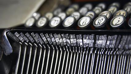 keys of typewriter