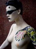 mannequin tatoué à sao paulo poster