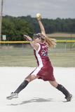 Fototapety girl playing softball