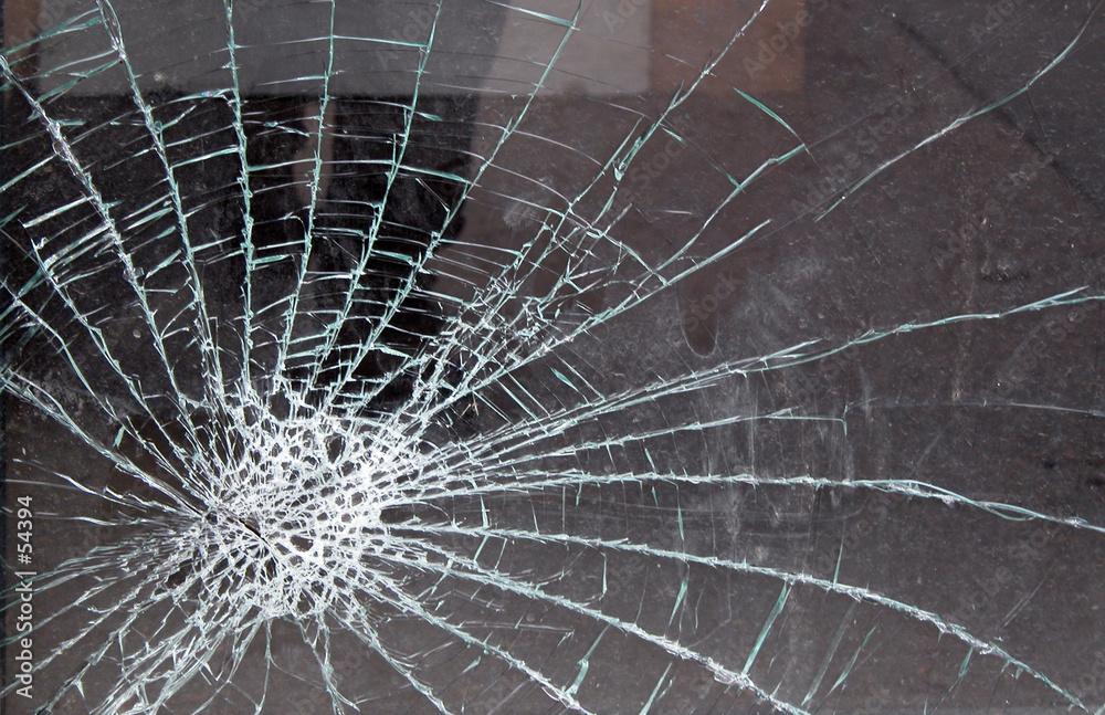 zniszczony szkło rozbiła - powiększenie