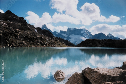 mountain waterscape