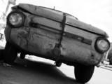 old broken car poster