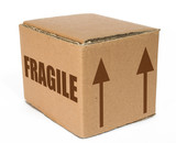 cardboard  box - fragile moving poster