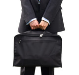 business man holding a briefcase poster