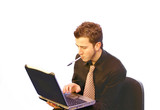 business man - laptop2 poster