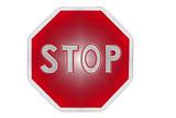 panneau stop poster