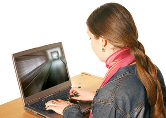 girl using laptop 3