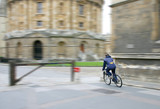 cyclist in oxford poster
