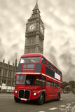 Fototapeta chmury - anglia - Autobus