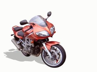 isolated motorbike