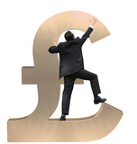 business growth - pound sign 12mp poster