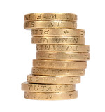 stack of british coins poster
