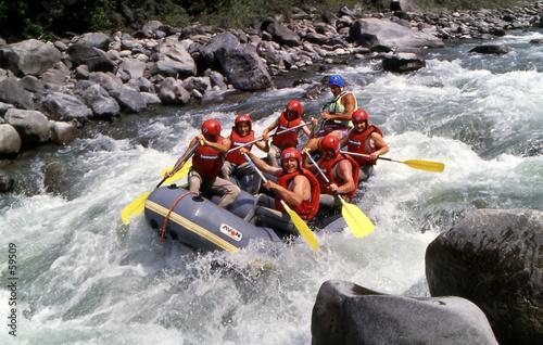 Leinwandbild Motiv rafting