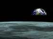 space travel- earth planet looking from the moon.