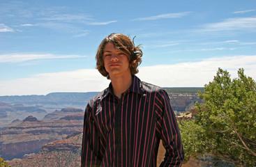 boy teen canyon